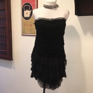 BCBGMaxAzria Little Black Strapless Dress